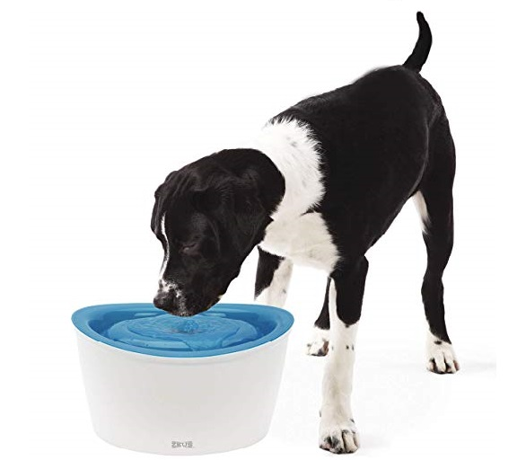 8.Zeus Fresh & Clear Elevated Dog and Cat Water Dispenser, Large Drinking Water Fountain with Purifying Filter, 6L Capacity