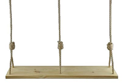 5. Double Wooden Rope Tree Swing for Adults Kids by Carolina