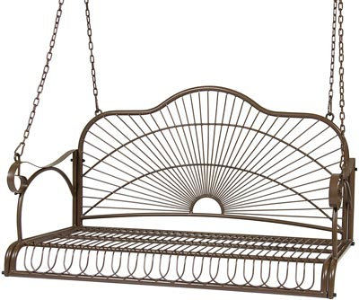 2. Iron Patio Hanging Porch Swing Chair by Best Choice Product