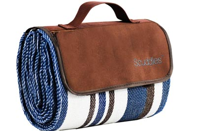1. Extra Large Picnic and Outdoor Blanket with Dual Layers, Water-Resistant Handy Mat Tote by Scuddles