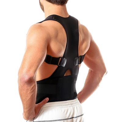 9. Best Fully Adjustable Support Brace - Back Brace Posture Corrector by Flexguard Support