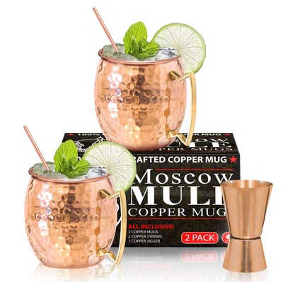 2. Moscow Mule Copper Mugs - Set by Benicci