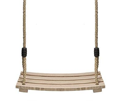 1. Wood Tree Swing Seat Chair Child Adult Kid Pellor