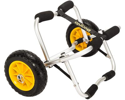 2. Kayak Cart Canoe Carrier Trolley with No-Flat Airless Tires Wheels Transport by Bonnlo