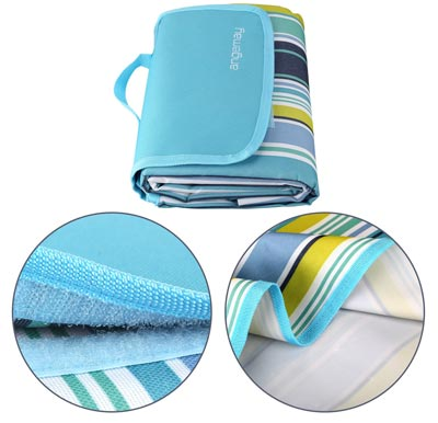6. Portable Waterproof Beach Mat, Extra Large Picnic Blanket by Angemay