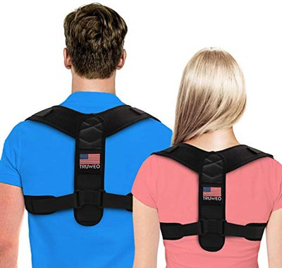 1. Adjustable Upper Back Brace For Clavicle Support and Providing Pain Relief for Neck and Shoulder by Truweo