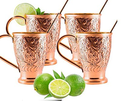 10. Moscow Mule Pure Copper Cups by Kamojo