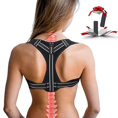 2. Adjustable Back Posture Corrector for Woman by WYLLIELAB
