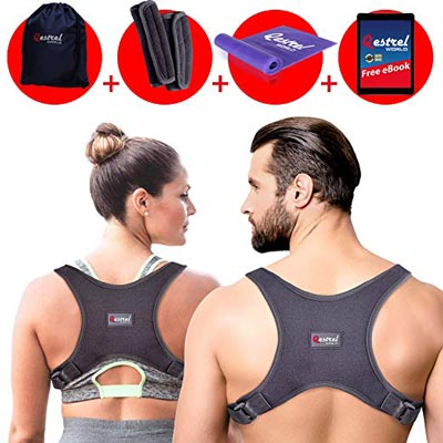 10. Back Straightener Posture Corrector, Upper Back Support and Neck Pain Relief by Qestrel World