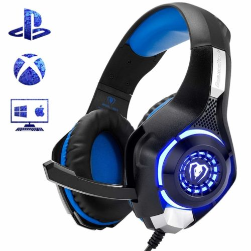 Beexcellent Gaming Headset for PS4 Xbox One PC Mac Controller Gaming Headphone with Crystal Stereo Bass Surround Sound
