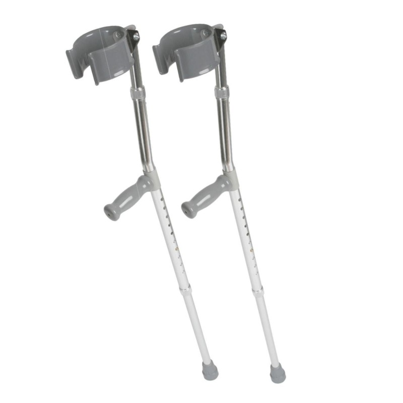 Medline MDS805161 Aluminum Forearm Crutches