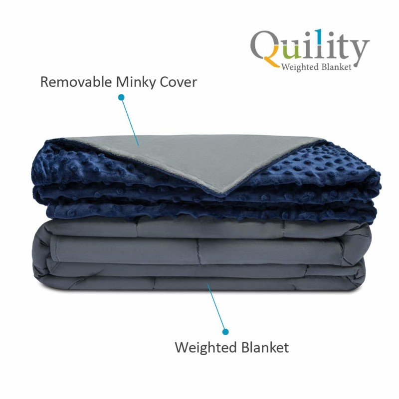 Quility Weighted Blanket Premium Adult With Removable Cover