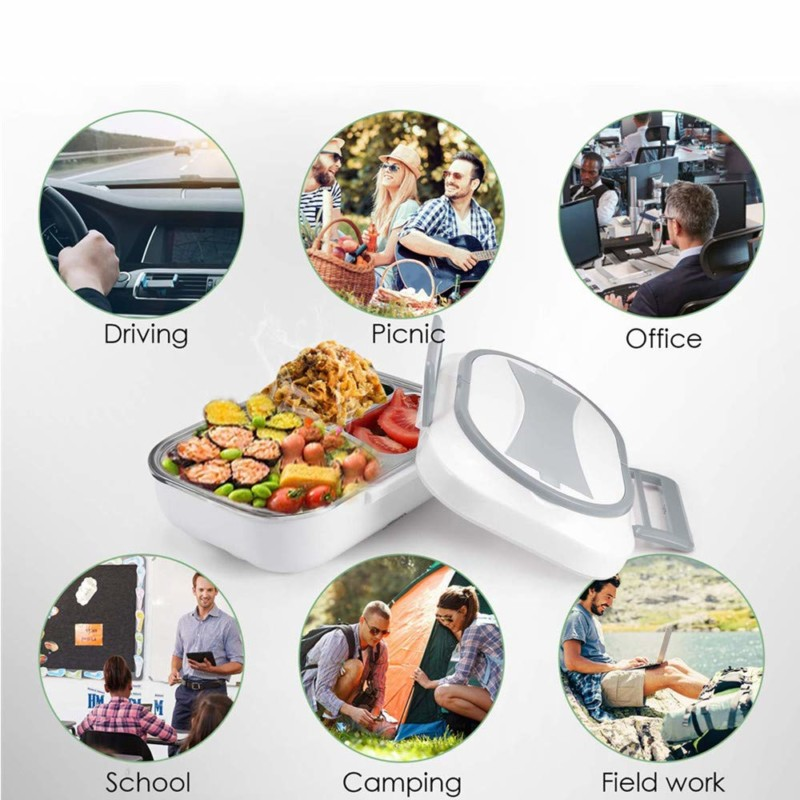 Toursion Electric Dual Heating Car- Home Lunch Box Deluxe