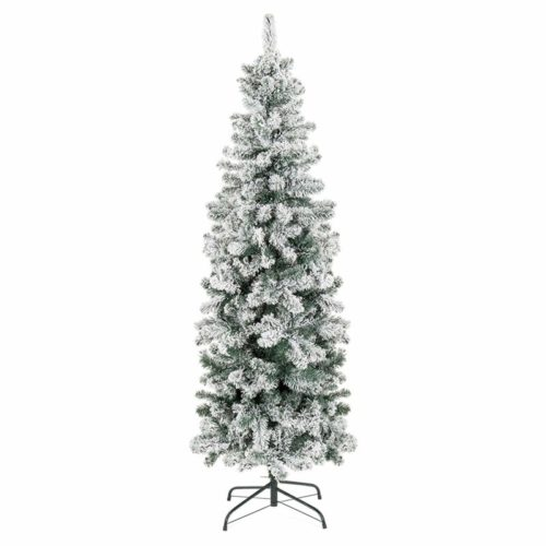 Best Choice Products 6ft Pencil Christmas tree- Snow Flocked