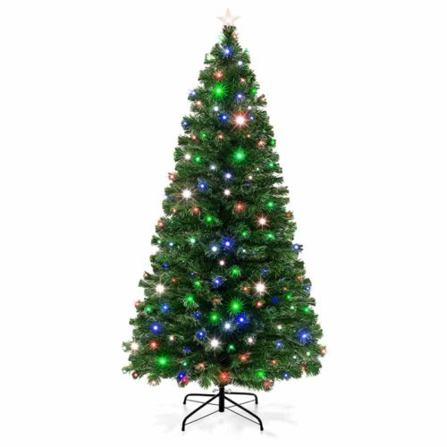 Best Choice Products Pre-Lit Fiber Optic Christmas tree 7-foot