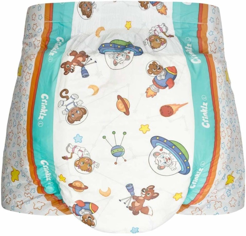 Crinklz Astronaut Adult Diapers | Large | ABDL