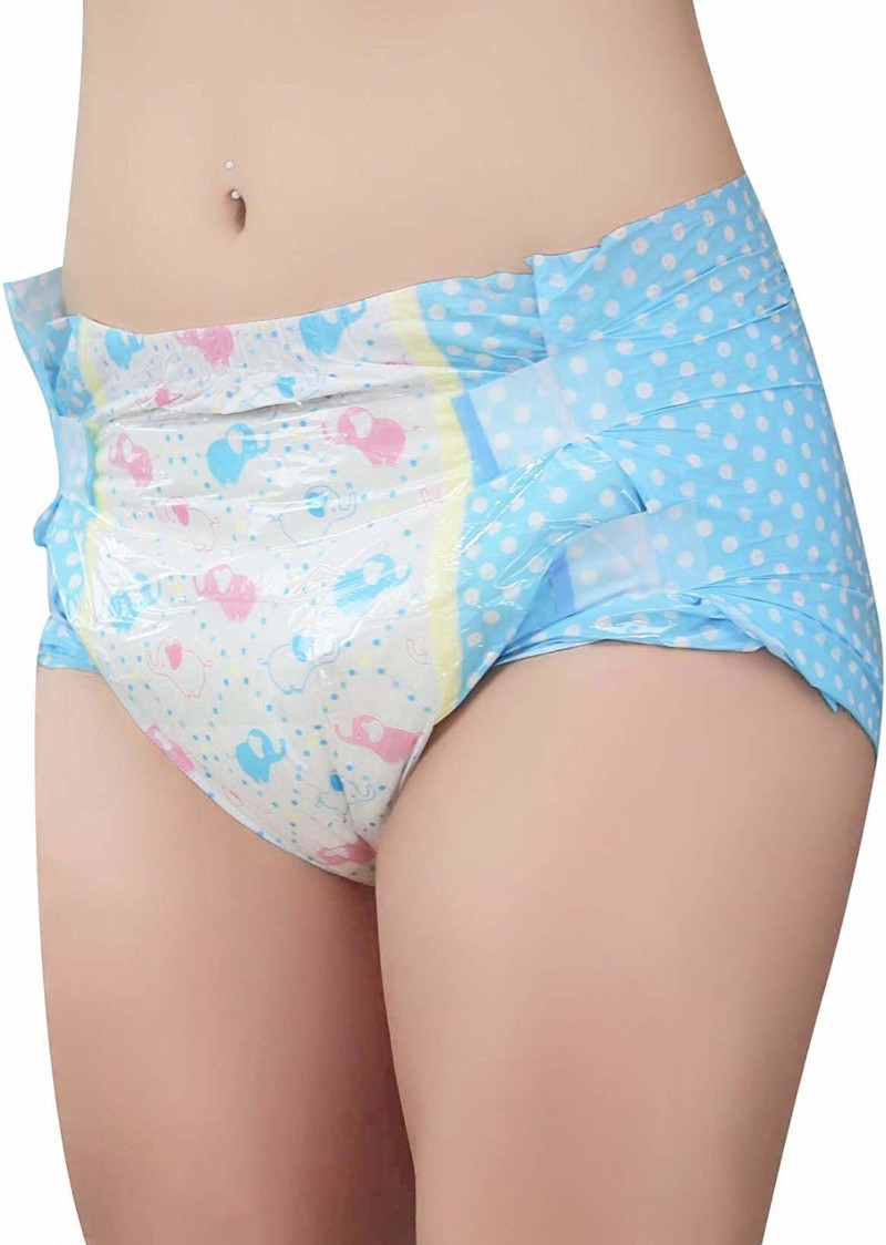 LittleForBig Printed Adult Brief Diapers Adult Baby Diaper Lover ABDL