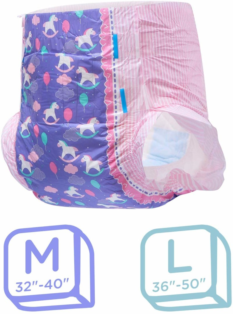 LittleForBig Printed Adult Brief Diapers