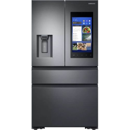 Samsung Black Stainless Steel Refrigerator With Family Hub 2.0