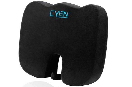 Memory Foam Bamboo Charcoal Infused Ventilated Orthopedic Seat Cushion for Car and Wheelchair