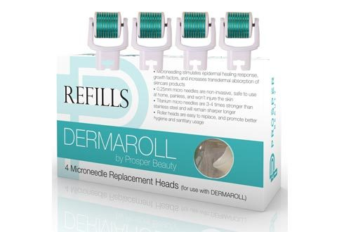 Derma Roller Microneedle 4 Piece Refill Only Kit