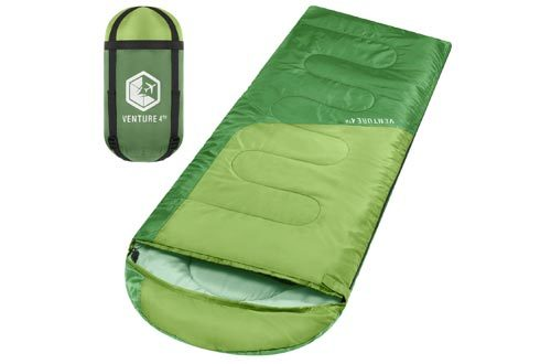 Lightweight, Comfortable, Water Resistant, 3 Season Sleeping Bag for Adults & Kids