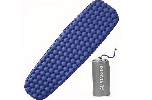 AlphaBeing Air Sleeping Pad - Ultralight Inflatable Camping Mat for Backpacking