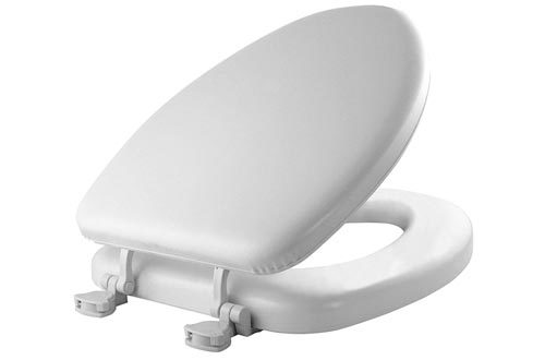 MAYFAIR Soft Toilet Seat Easily Remove, ELONGATED, Padded with Wood Core