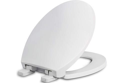 Round Toilet Seats with Lid, Slow Close Seat and Cover, Including Two Sets of Parts, Fit All Standard Round Toilet