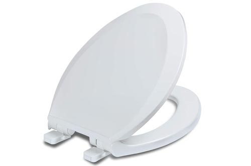 Elongated Toilet Seats with Lid, Quiet Close, Fits Standard Elongated or Oblong Toilets