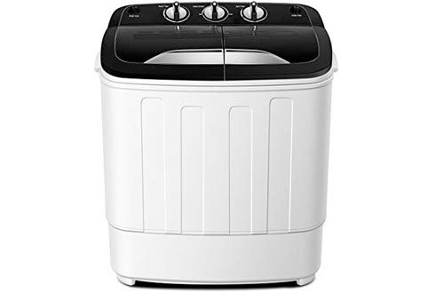Portable Washing Machine TG23 - Twin Tub Washer Machine with Wash and Spin Cycle Compartments