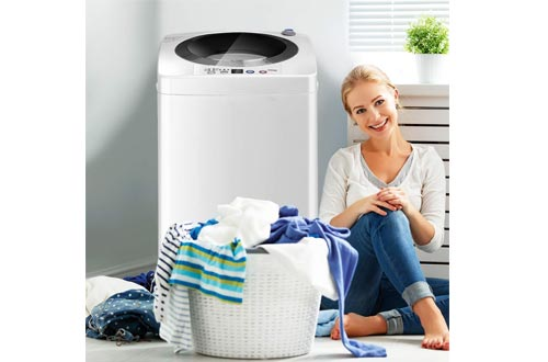 Portable Compact Full-Automatic Laundry 8 lbs Load Capacity Washing Machine