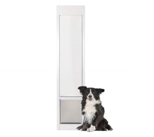 1.PetSafe Freedom Aluminum Patio Panel Sliding Glass Pet Door for Dogs and Cats - Adjustable Frame