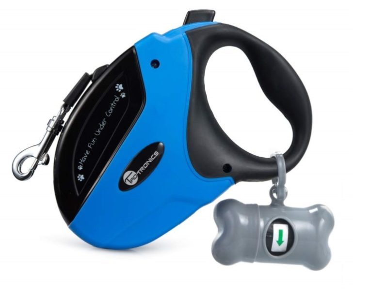 1.TaoTronics Retractable Dog Leash, 16 ft Dog Walking Leash for Medium Large Dogs up to 110lbs, Tangle Free, One Button Break & Lock
