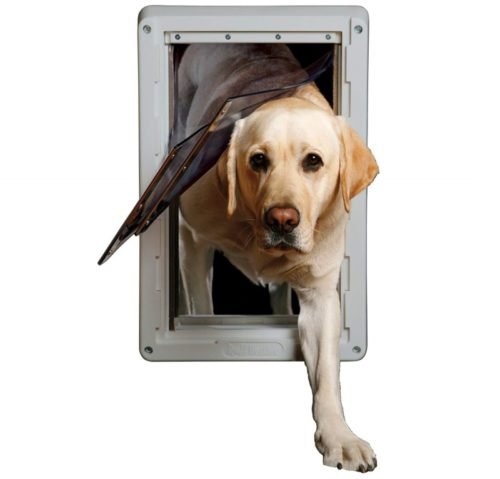 10.Ideal Pet Products Designer Series Ruff-Weather Dog Doors with Telescoping Frame