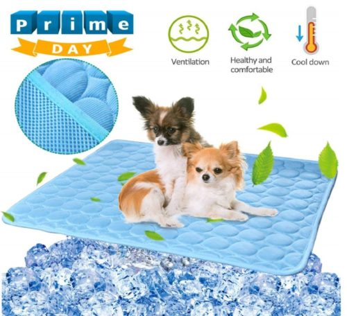11.BESAZW Cooling Mat Pad for Dogs Cats Ice Silk Mat Cooling Blanket Cushion