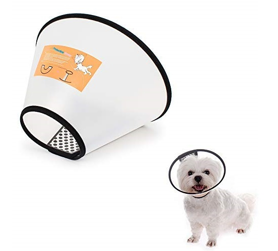 13.LEMON PET Anti-Bite Lick Pet Dog Cat Cone Wound Protective Collar Adjustable Neck Comfy Plastic Soft Clear, 8 Sizes to Select