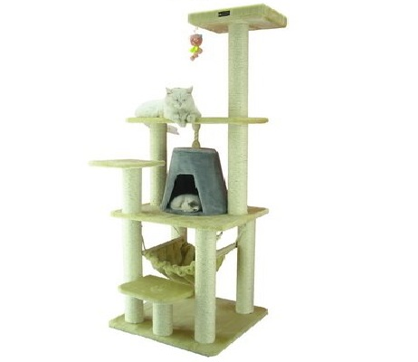 2.Aeromark International Armarkat Cat Tree Furniture Condo, Height- 60-Inch to 70-Inch