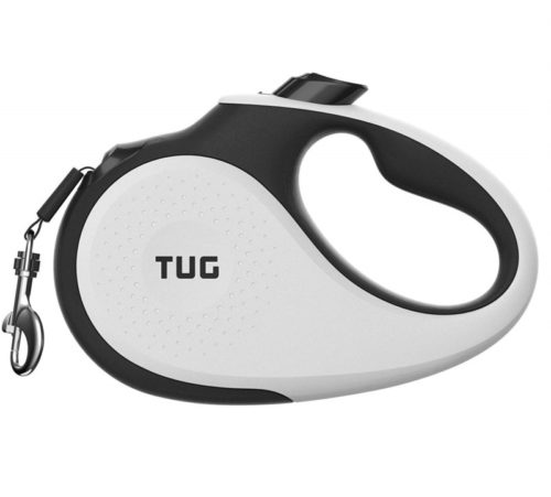 2.TUG Patented 360° Tangle-Free, Heavy Duty Retractable Dog Leash with Anti-Slip Handle; 16 ft Strong Nylon Tape Ribbon