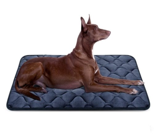 3.Hero Dog Dog Bed Mat Crate Pad Anti Slip Mattress Washable for Large Medium Small Pets Sleeping