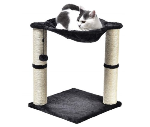 4.AmazonBasics Cat Scratching Post and Hammock