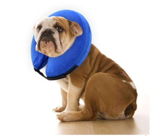 4.E-KOMG Dog Cone After Surgery, Protective Inflatable Collar, Blow Up Dog Collar, Pet Recovery Collar for Dogs and Cats Soft