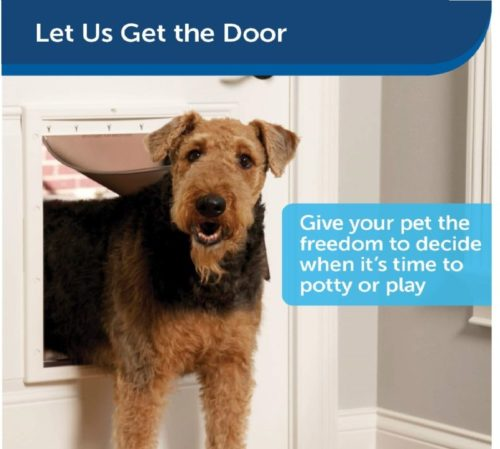 5.PetSafe Plastic Dog Doors with Soft Tinted Flap - Small, Medium, Large and X-Large Door for Dogs and Cats