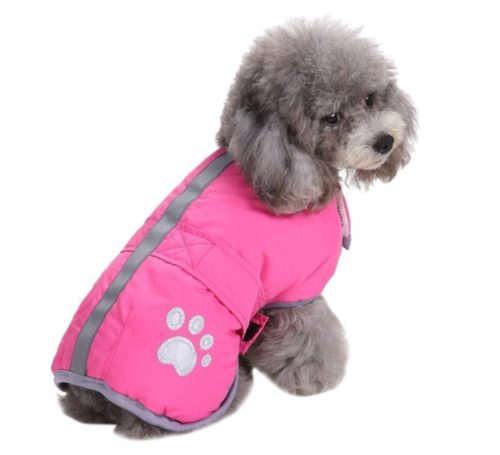 5.Queenmore Cold Weather Dog Coats Loft Reversible Winter Fleece Dog Vest Waterproof Pet Jacket Available in Extra Small, Small, Medium, Large Extra Large Sizes