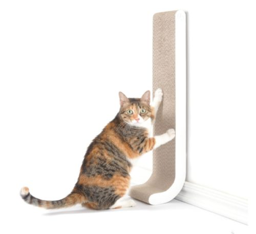 6.4CLAWS Wall Mounted Scratching Post 26 (White) - BASICS Collection Cat Scratcher