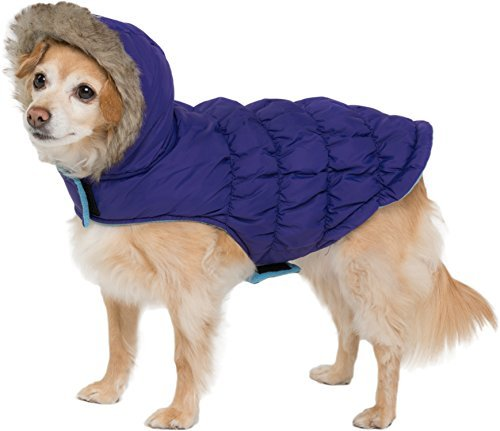 6.Friends Forever Sherpa and Quilted Winter Vest for Small Size Dogs Only, Coat Sweater Hoodie Outwear Apparel