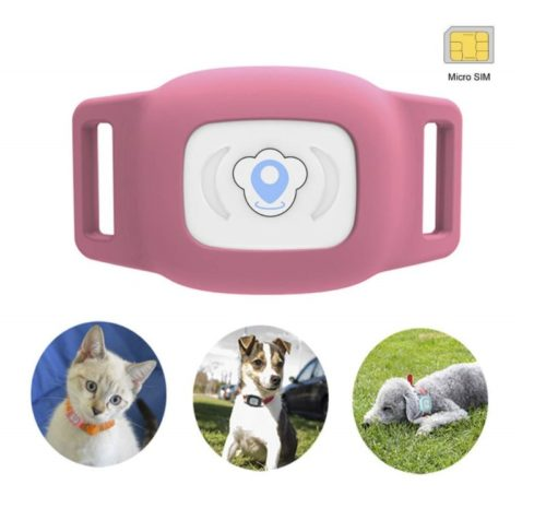 7.BARTUN Mini Pet Tracker GPS Locator for Dogs Cats 28lb Waterproof IP67 Real Time Activity Monitor AGPS LBS SMS Positioning Tracking Device with Collar Included SIM Card