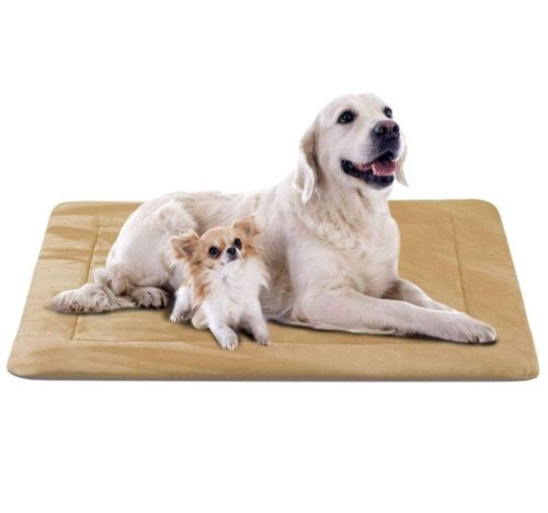 7.JoicyCo Dog Bed Crate Pad in Washable Pet Beds Soft Dog Mattress- Anti-Slip Kennel Pads Luxury Color