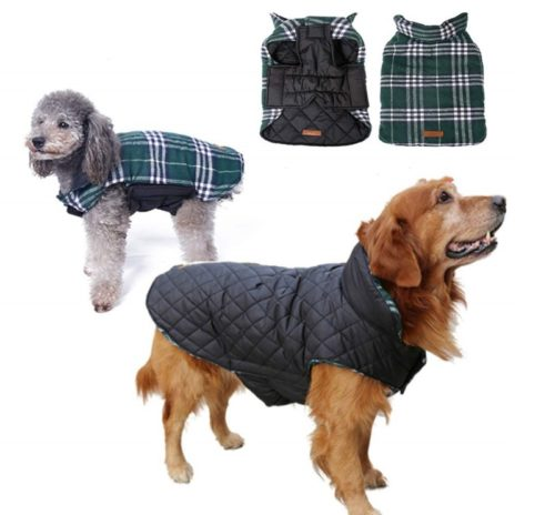 9.Dog Coat Dog Thicken Lining Winter Clothes Waterproof Reflective Cold Weather Jacket Large Dogs Small Medium Large Dog Clothes Dog Sweaters Pets Apparel Winter Vest Dog