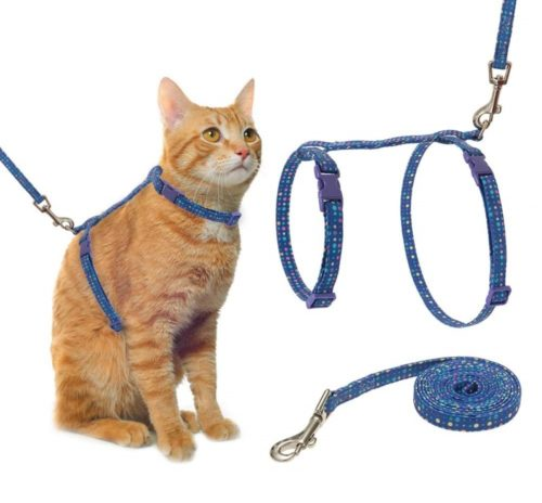 9.PUPTECK Cat Harness with Leash Set - Adjustable Soft Strap with Fashion Design